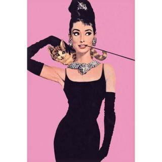 Affiche de Audrey Hepburn (pink) (61 x 91.5cm)   Achat / Vente TABLEAU