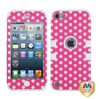 MYBAT Pink/ White Dots Case for Apple iPod Touch Generation 5