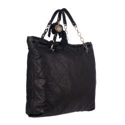 Lanvin Amalia Black Lambskin Leather Tote Bag