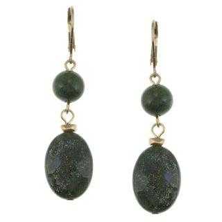 Kenneth Cole Emerald Green 2 stone Drop Fashion Earrings