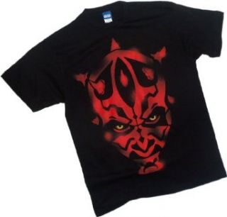 Stencil Face    Darth Maul    Star Wars T Shirt Clothing