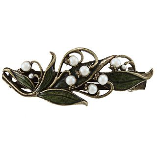 Sweet Romance Womens Lily of the Valley Garden Pewter Barrette