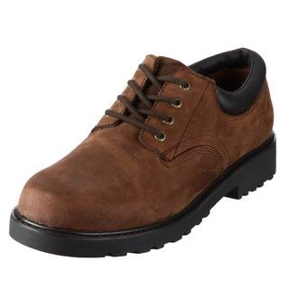 Academie Gear Mens Tuffex Brown Leather Oxfords