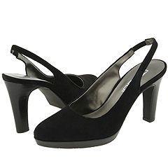 Moda Spana Grace Black Suede Pumps/Heels