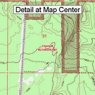 USGS Topographic Quadrangle Map   Chemult, Oregon (Folded