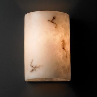 light Small Multi directional Faux Alabaster Wall Sconce