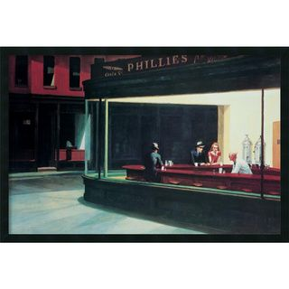 Edward Hopper Nighthawks Framed Art