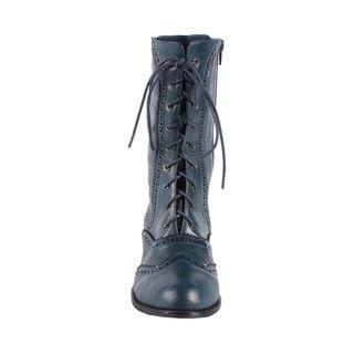 Jacobies by Beston Womens Break 3 Mid calf Combat Boots