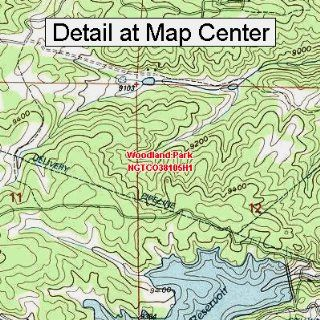USGS Topographic Quadrangle Map   Woodland Park, Colorado