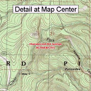 USGS Topographic Quadrangle Map   Ohanapecosh Hot Springs
