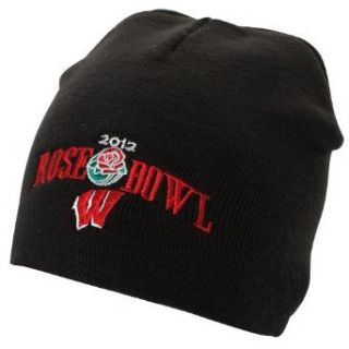NCAA Wisconsin Badgers Black 2012 Rose Bowl Knit Beanie