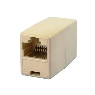 Light Beige RJ45 Ethernet Connector Adapter