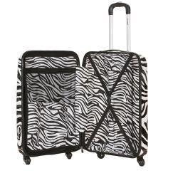 Rockland Zebra Print 20 inch Lightweight Hardside Spinner Carry on