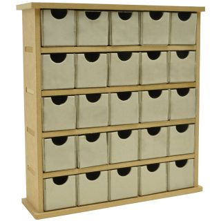 Beyond The Page MDF Mini Treasure Chest/25 Chip Drawers 2.25X9X9.75
