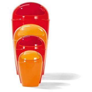 Poubelle DEL XL H 65 CM   Orange   Achat / Vente POUBELLE   CORBEILLE
