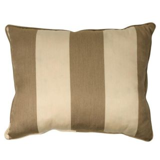 Light Brown/Canvas Stripe Corded Outdoor Pillows with Sunbrella Fabric