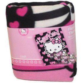 Hello Kitty 50x60 Holding Heart Fleece Throw Clothing