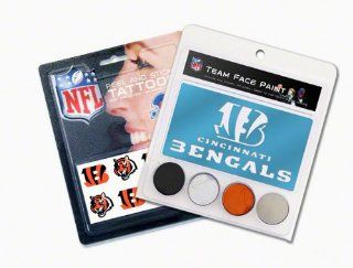 Cincinnati Bengals Face Paint and Tattoo Pack Sports