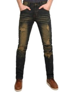 Doublju Mens Premium Slim Washing Jeans Clothing
