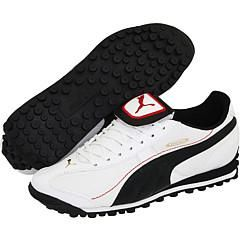 Puma King XL Trainer White/Black/Pompeian Red Athletic