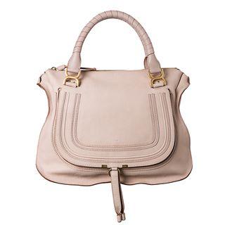 Chloe Marcie Large Light Pink Leather Shoulder Bag