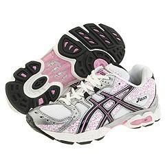 ASICS Kids Gel Nimbus 10 GS (Toddler/Youth) White/Onyx/Pink Athletic