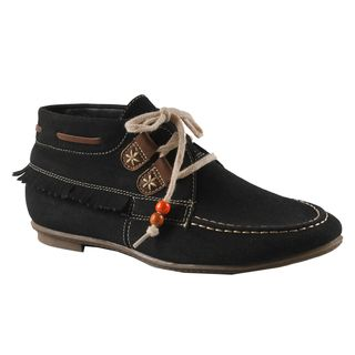 Machi by Beston Womens Jimmy 1 Black Moccasin Loafers