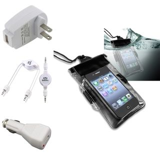 BasAcc Waterproof Case/ Chargers/ Cable for HTC EVO 4G LTE/ One X