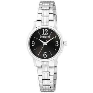 Citizen Womens Classic Silver/ Black Stainless Steel Watch