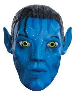 com Costumes For All Occasions Ru4706 Avatar Jake .75 Mask Clothing
