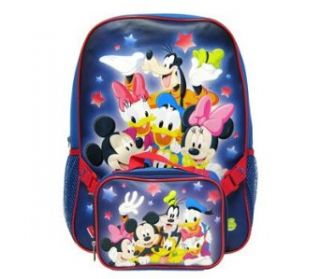 Disney Mickey Mouse Kids School Backpack w/ Lunch kit