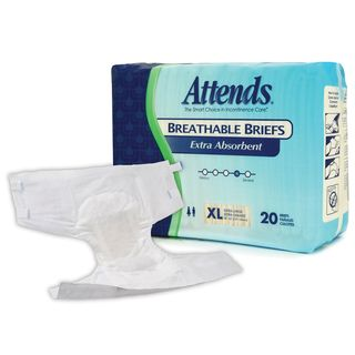 Attends Extra Absorbent X Large Breathable Briefs (Case of 60