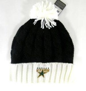 Dallas Stars Womens Cuffed Ball Top Beanie Hat Sports