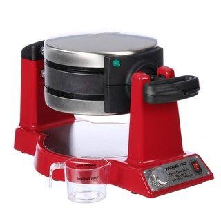 Waring Pro WMK600RFR Red Double Belgian Waffle Maker (Refurbished