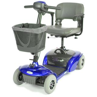 Spitfire Travel 4 Wheel Blue Power Scooter