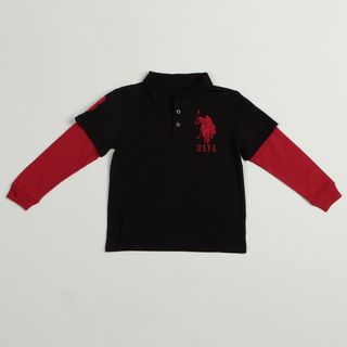 US Polo Boys Red/ Black Polo Shirt FINAL SALE