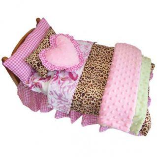AnnLoren 7 piece Shabby Doll Bedding Set