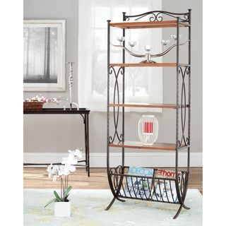 Hessle Antique Pewter/ Dark Walnut Etagere