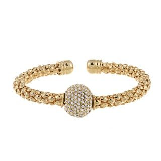 Morgan Ashleigh Goldplated Base Metal Disco Ball Cuff Bracelet