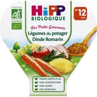 PLATS PREPARES SALES HIPP Assiette Légumes potage Dinde   Dès 12