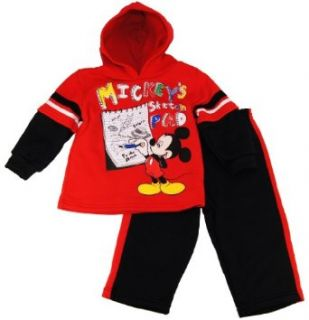 Disney Toddler Boys Mickey Mouse Fleece Red Tricot Track