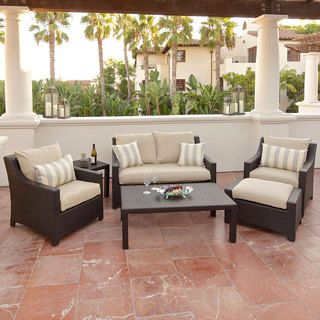 RST Slate 6 piece Love Seat and Club Chairs Patio Furniture Set
