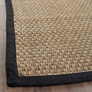 Hand woven Sisal Natural/ Black Seagrass Runner (26 x 12