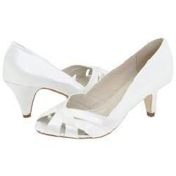 Steve Madden Seccco White Satin Pumps/Heels