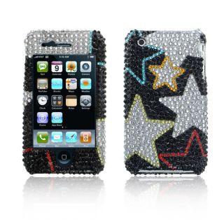 Premium Apple iPhone 3G/3GS Black and Silver Star Case