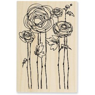 Stampendous Flower Fields Wood Stamp