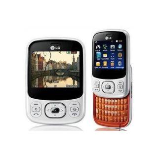 LG Town C320 Unlocked GSM White/ Orange Cell Phone