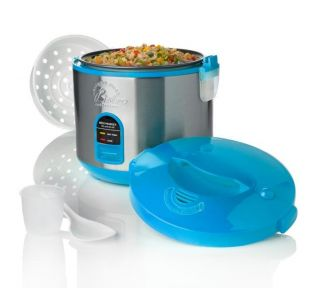 Wolfgang Puck Blue 10 cup Gourmet Rice Cooker with WP Recipes