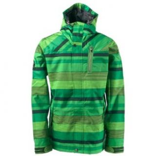 Holden Heath Snowboard Jacket Green Stripe Mens Sz XXL