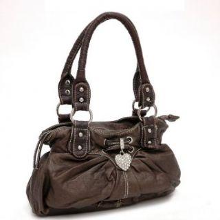 Designer Inspired Synthetic Leather Rhinestone shoulder